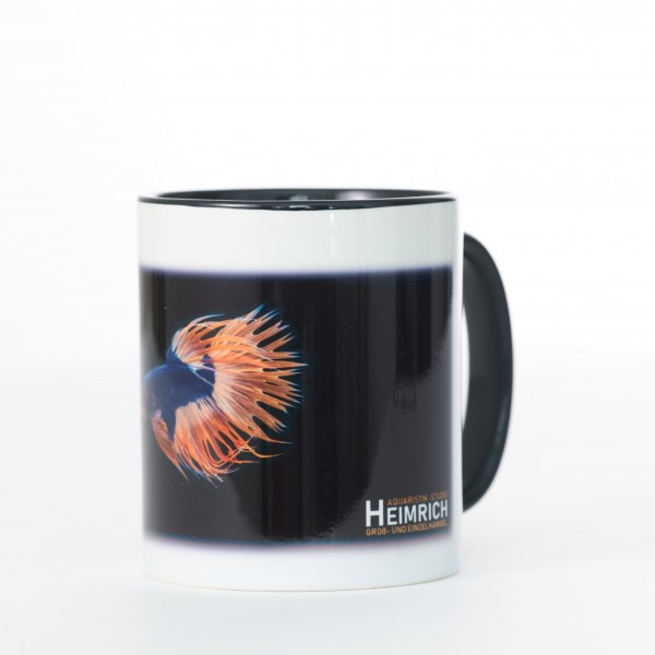 Foto-Tasse - Kampffisch Crowntail Dragon Blue Yellow