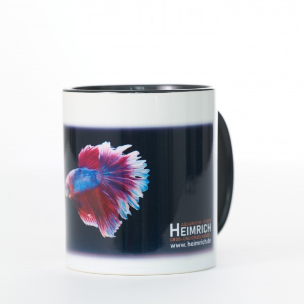 Foto-Tasse - Kampffisch Halfmoon Rosetail Blue-Red